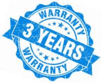 Warranty 3 years logo