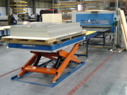 Lift Tables holding up heavy equipment